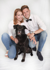 Junges Paar Mit Hund Fotografie