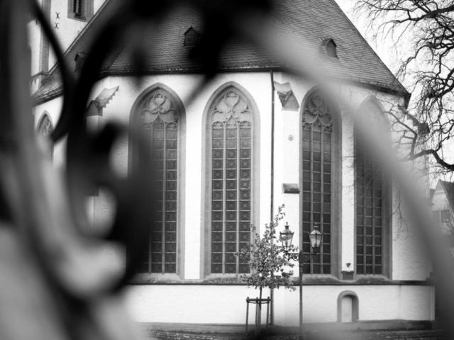 Marienkirche Lippstadt Schwarz Weiß